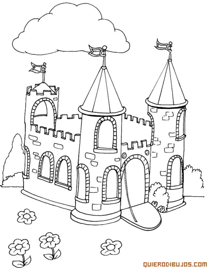 Caballeros Y Castillos Para Colorear   AZ Dibujos para colorear