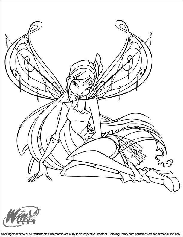 winx club magic:para colorear: believix