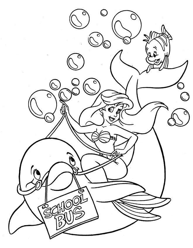 Dibujos Para Colorear De La Sirenita Ariel  AZ Dibujos para colorear