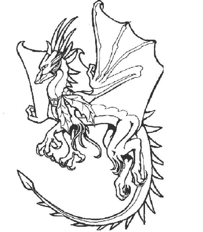 Dibujos Para Colorear Dragones Chinos - AZ Dibujos para colorear