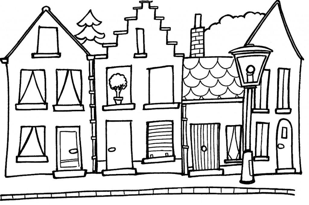 Dibujos Para Colorear Casa - AZ Dibujos para colorear