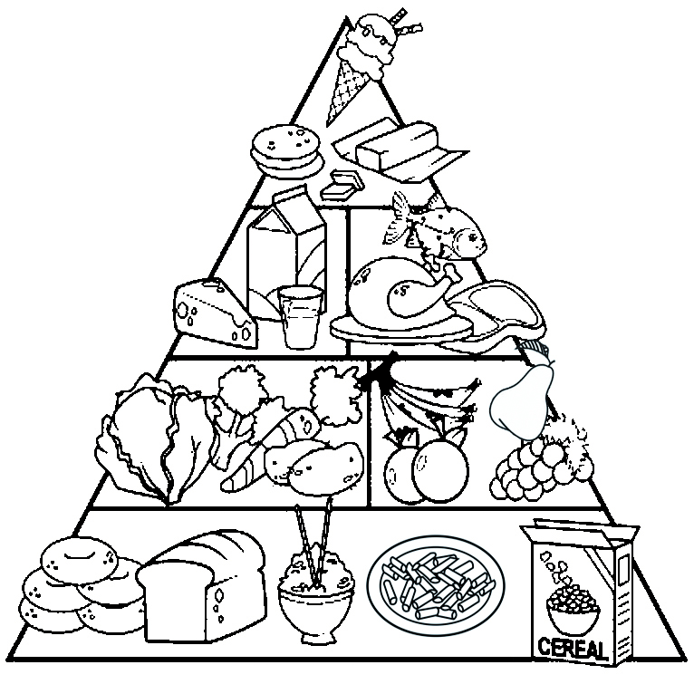 healthy food plate coloring page sketch coloring page