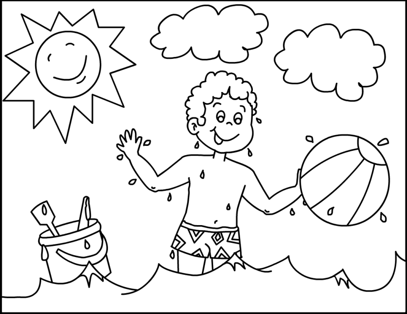 Kids Summer Coloring Page For Children | HelloColoring.com ...