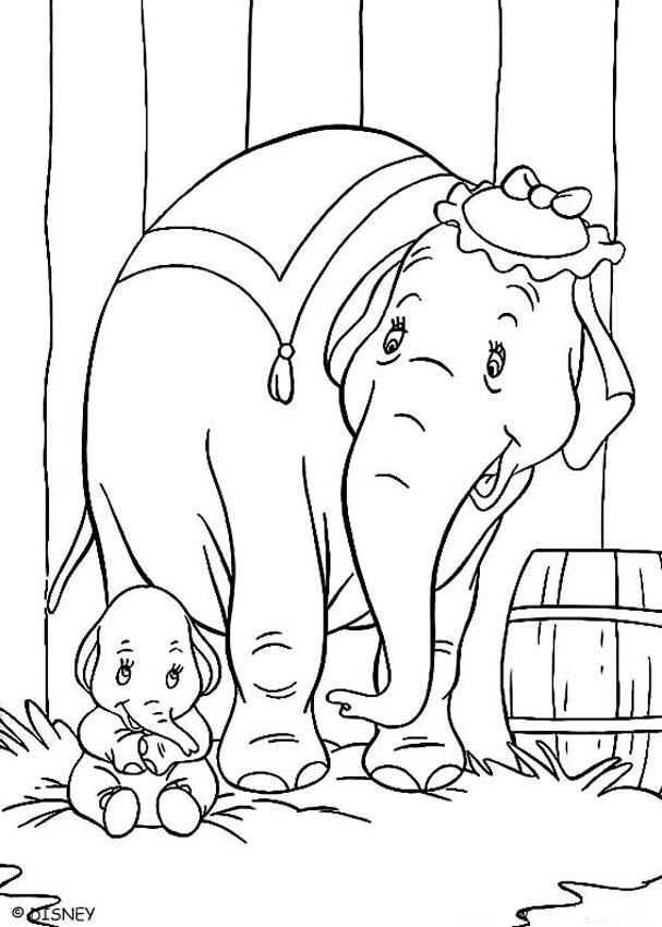 Dumbo Coloring Pages - Baby Dumbo - AZ Dibujos para colorear
