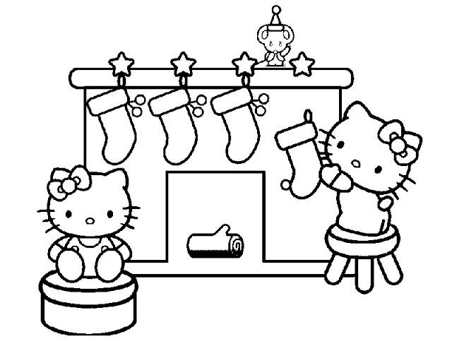 Colorear Hello Kitty Navidad Az Dibujos Para Colorear