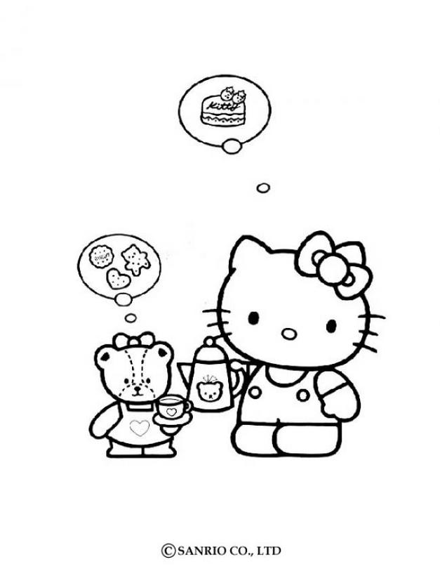 Hello kitty20 - Dibujo de Hello Kitty para imprimir