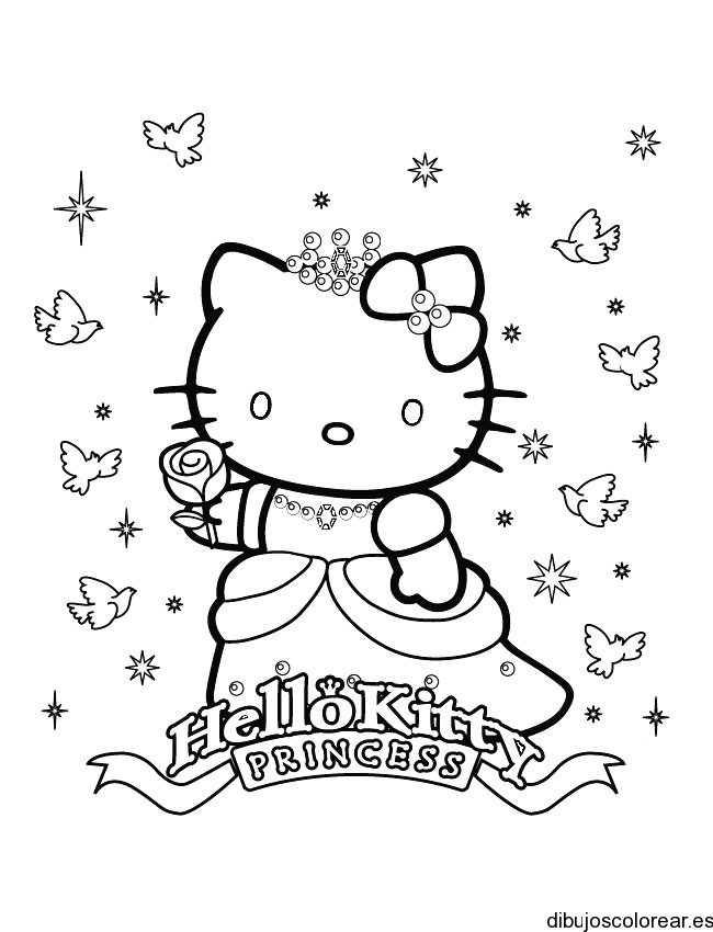 Related Pictures Dibujos De Hello Kitty Para Colorear Gratis Car ...