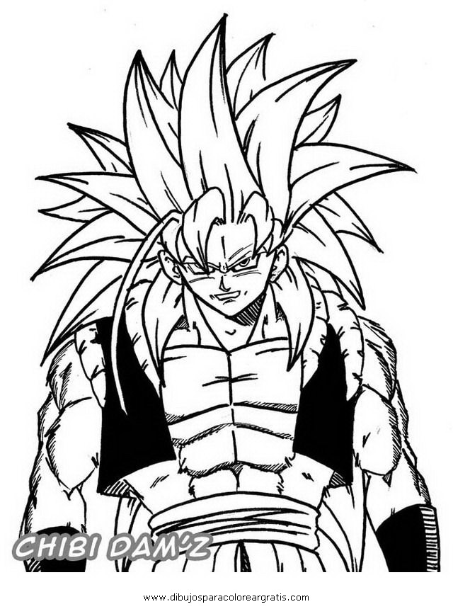 gogeta dibujo Colouring Pages