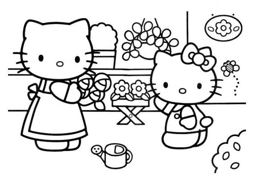 Hello kitty15 - Dibujo de Hello Kitty para imprimir