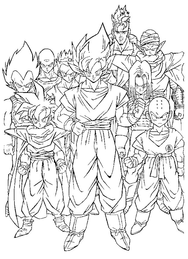 LAMINAS PARA COLOREAR - COLORING PAGES: Dragon Ball GT para ...