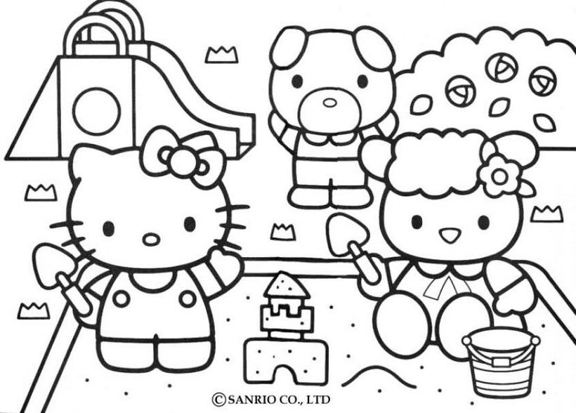 Hello kitty23 - Dibujo de Hello Kitty para imprimir