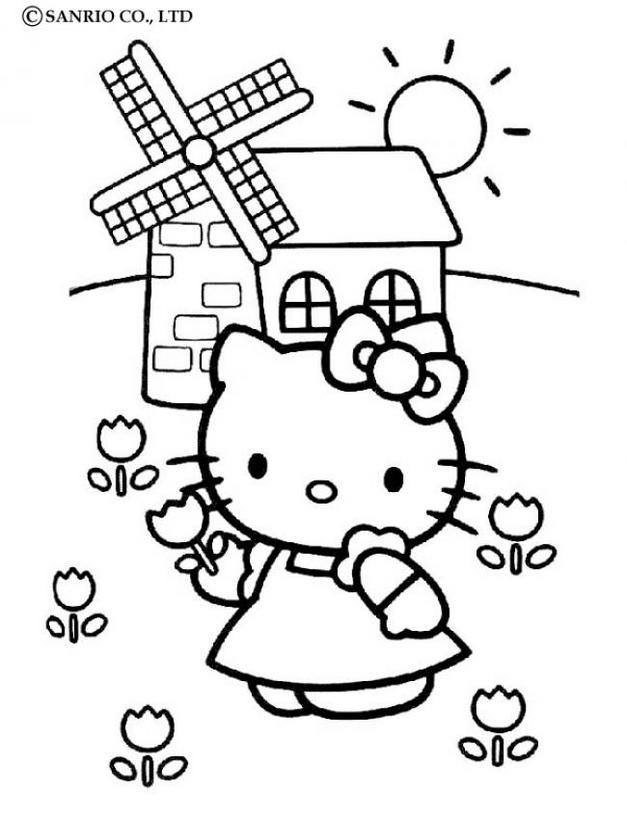 Hello kitty17 - Dibujo de Hello Kitty para imprimir