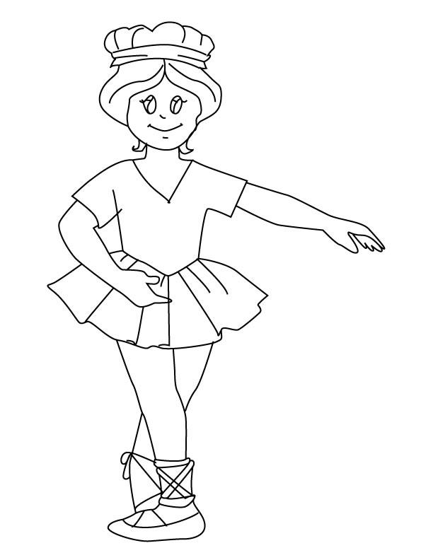 Bailarinas Para Colorear  AZ Dibujos para colorear