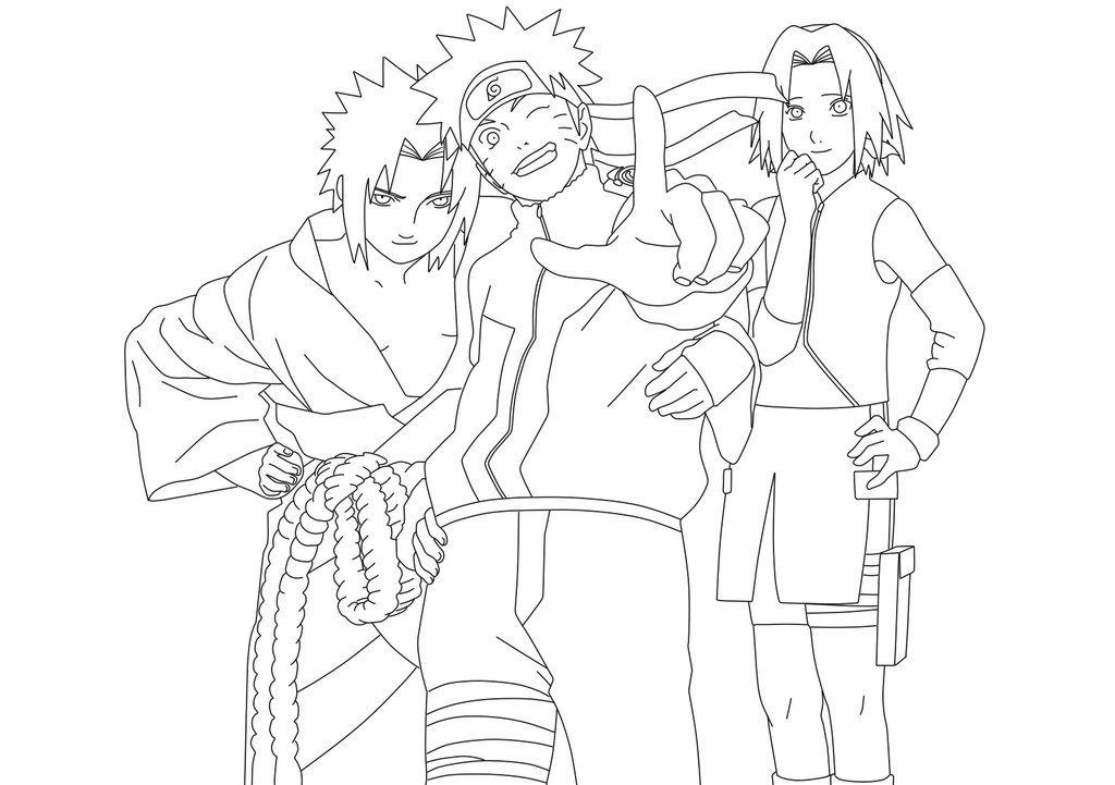 Naruto and SAST anthony Colouring Pages