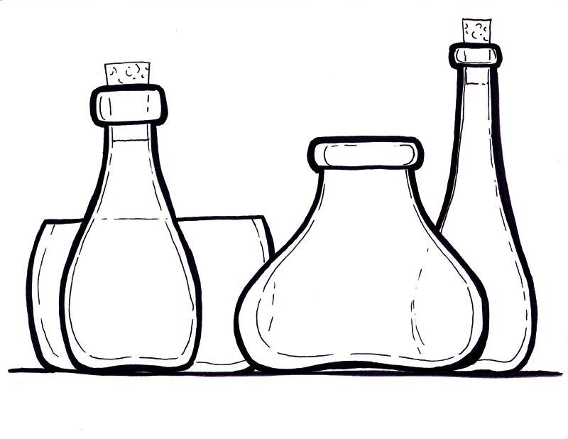coloring pages medicine bottle - photo#20