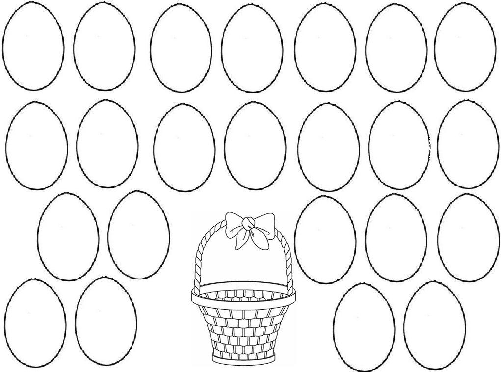 Huevos Pascua Colorear - AZ Dibujos para colorear