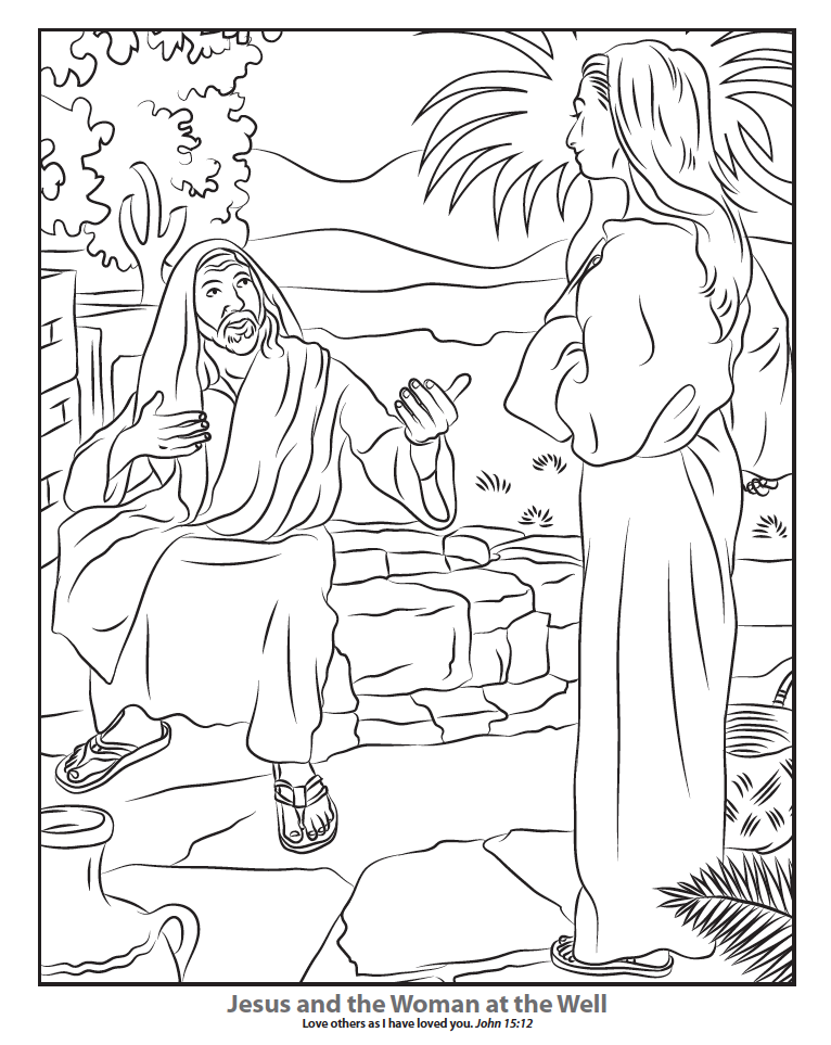 naaman and the servant girl coloring pages - photo #27