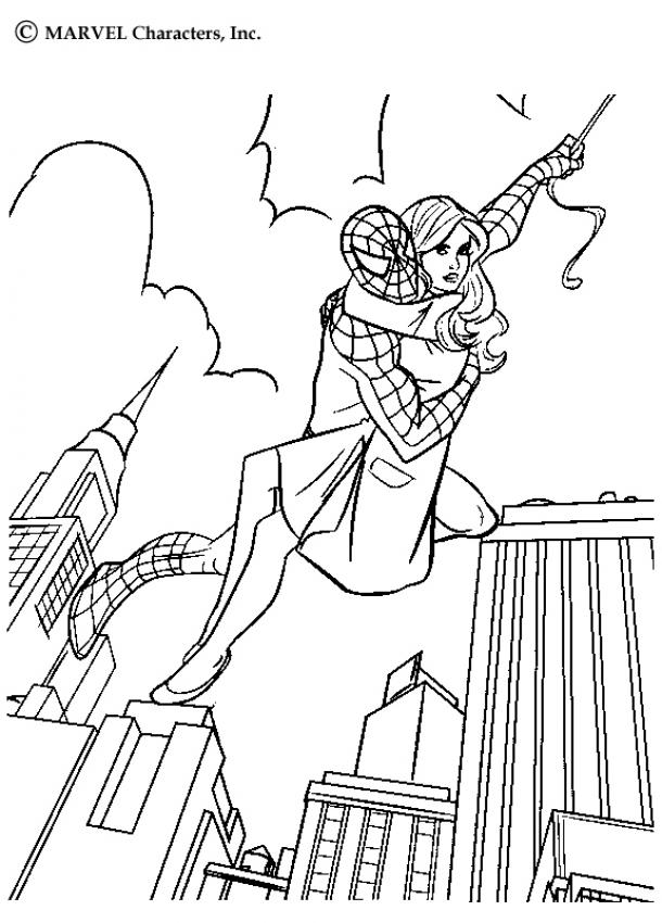 SPIDER-MAN coloring pages - Spiderman's hand