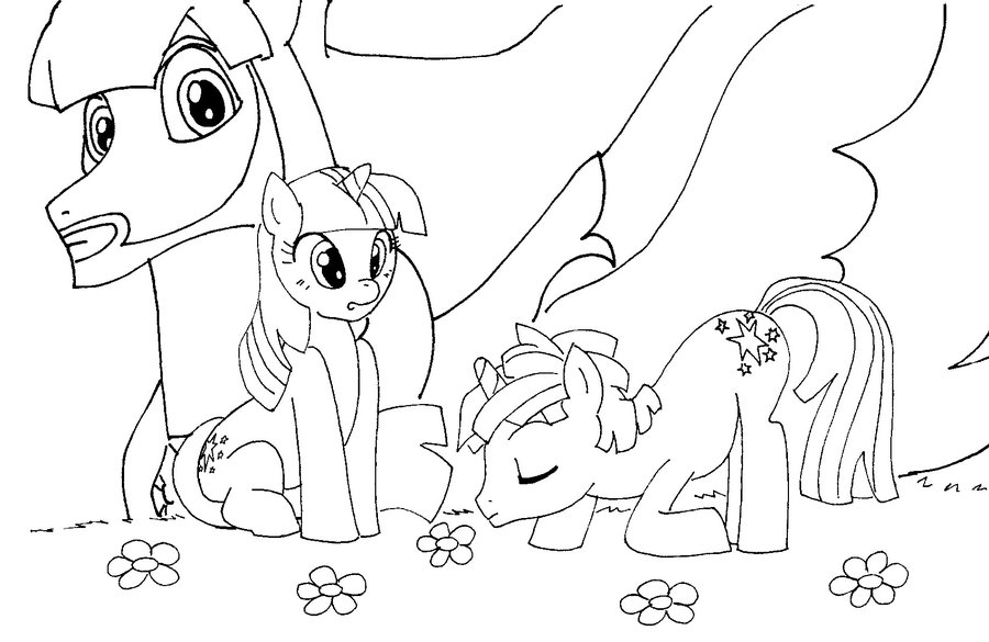 Image - My Little Pony portada para colorear by reina del caos.jpg ...