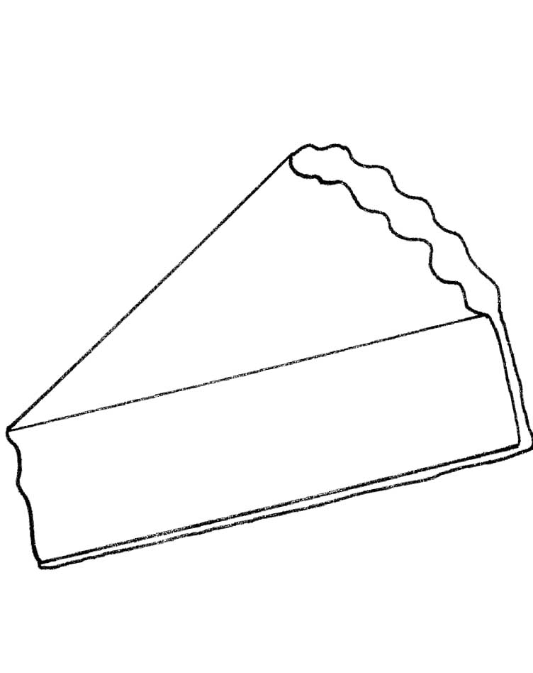 Piece Of Pie Page Coloring Pages