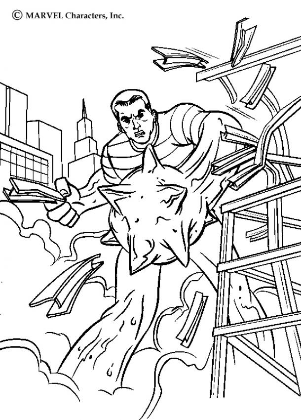 SPIDER-MAN coloring pages - Sandman's power