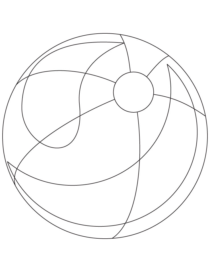 Beach Ball Coloring Page Download Free