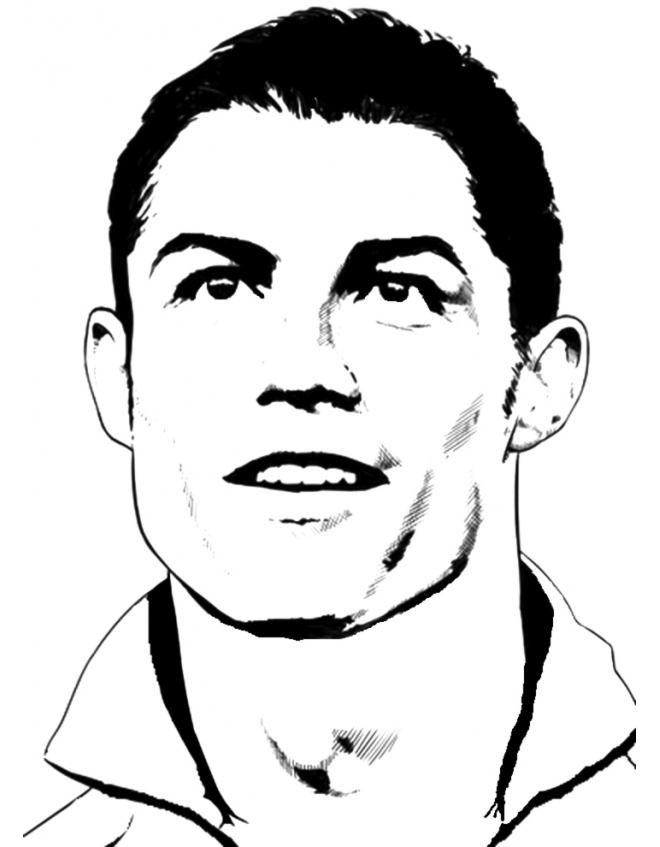 Ronaldo I Coloring Pages Crokky Coloring Pages