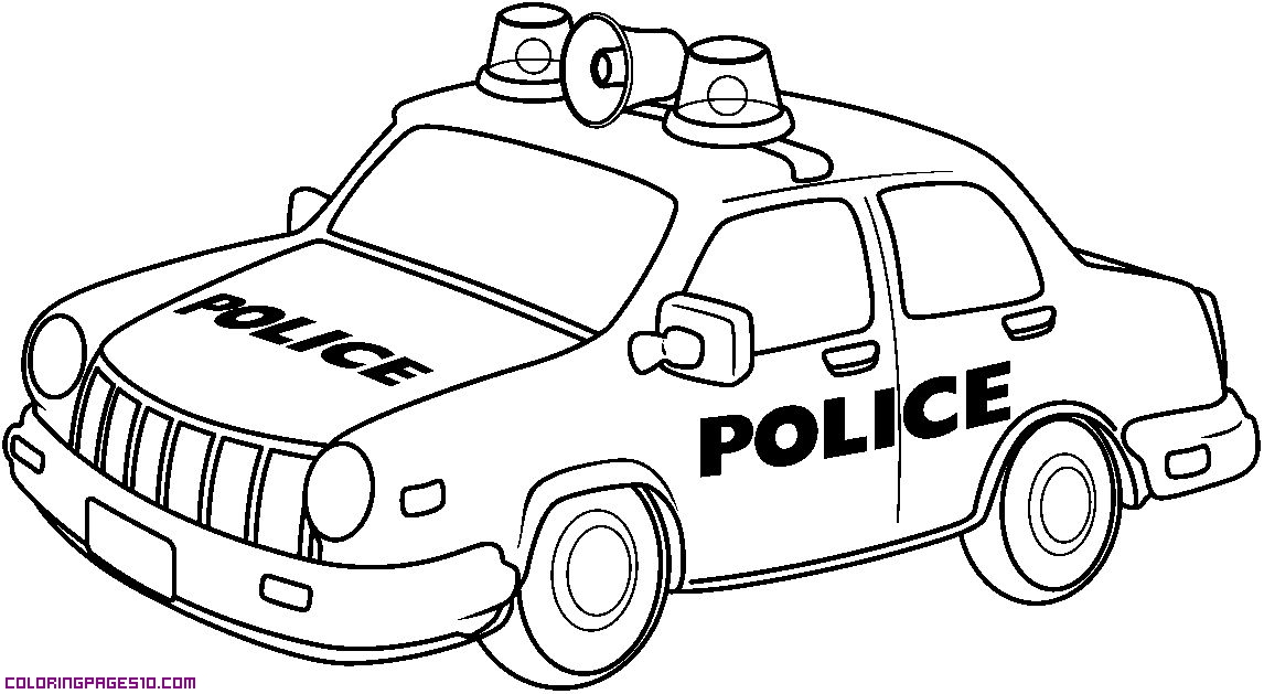 A police car for coloring