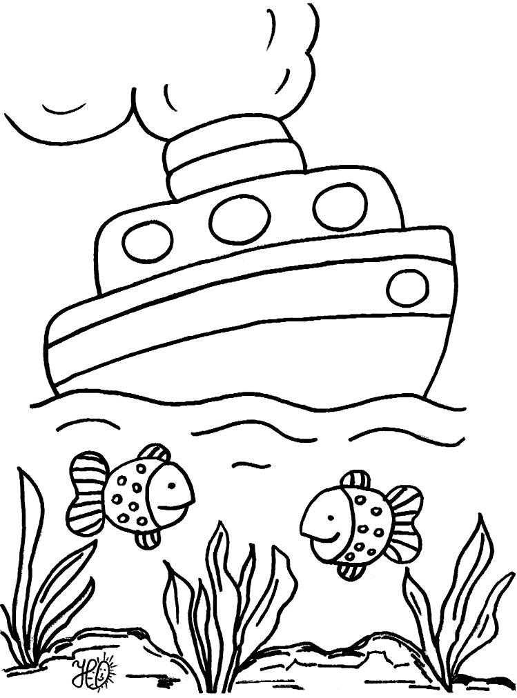Fondo Del Mar Para Colorear   AZ Dibujos para colorear