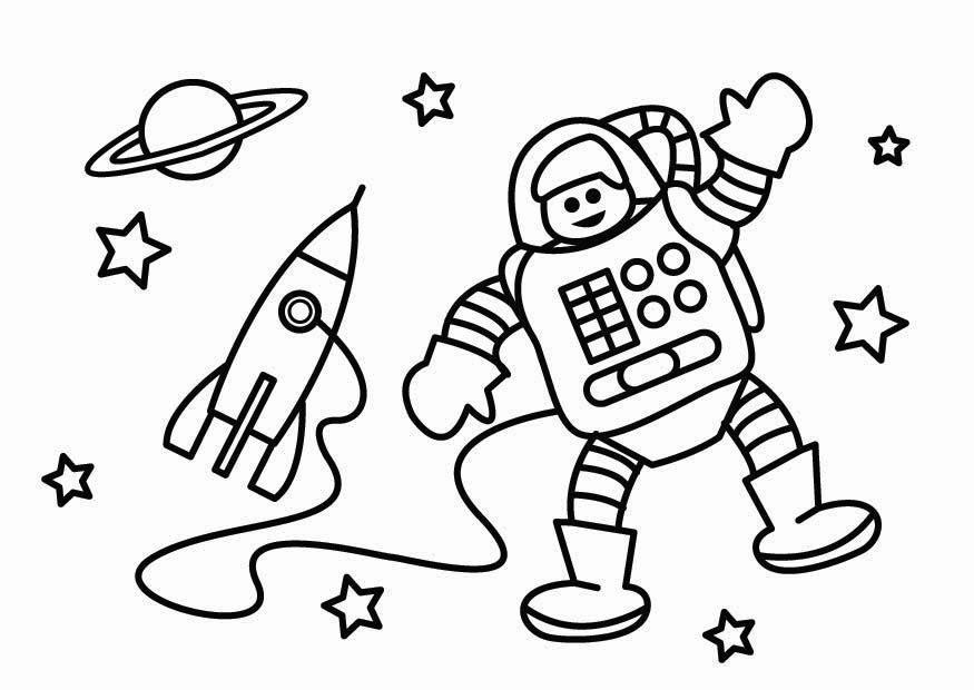 Astronauta Para Colorear - AZ Dibujos para colorear