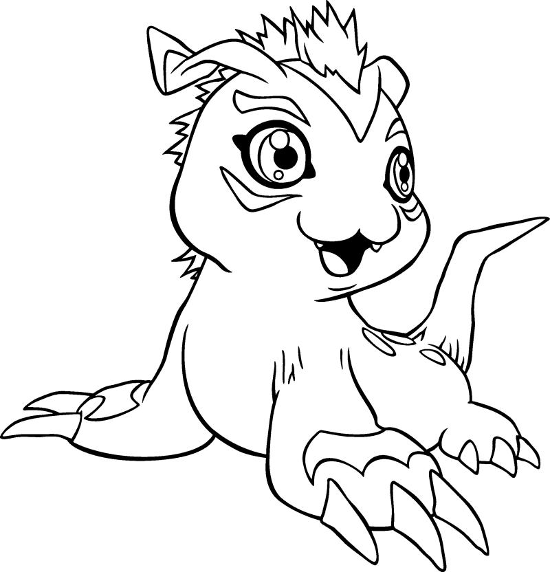 para dibujar digimon Colouring Pages