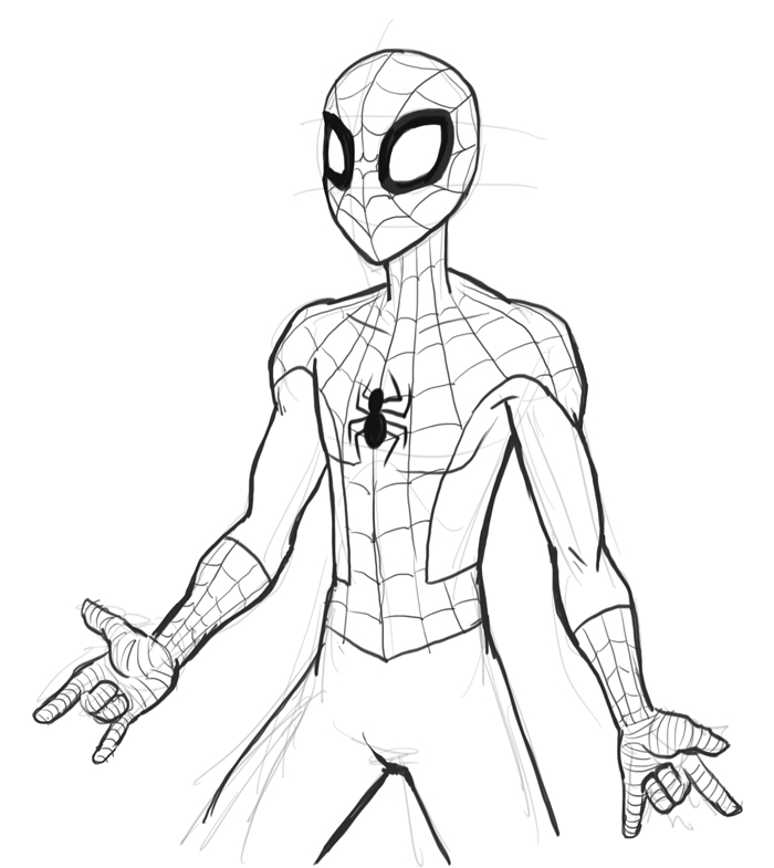 How to draw Spiderman | drawing and digital painting tutorials online