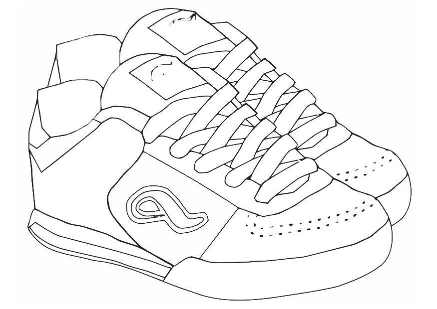 Dibujos De Zapatillas Para Colorear - AZ Dibujos para colorear