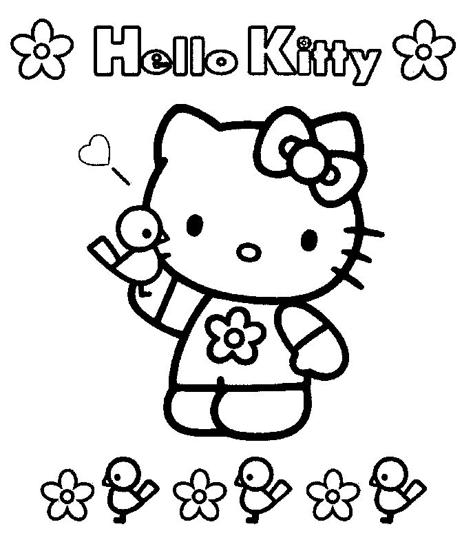 Hello kitty29 - Dibujo de Hello Kitty para imprimir