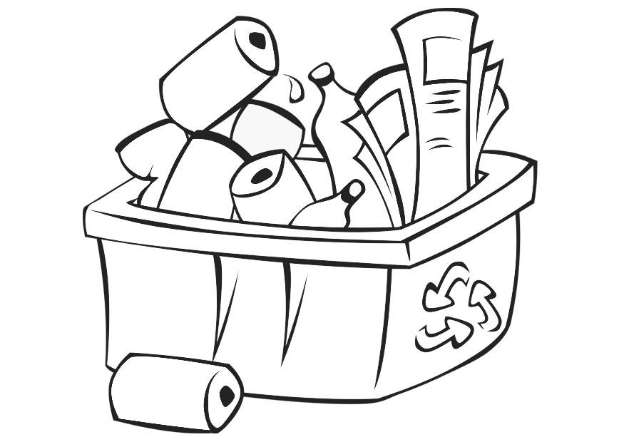 Recycling Bin Coloring Pages in Color