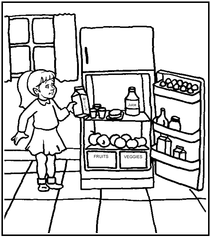 partes de la cocina Colouring Pages (page 3)