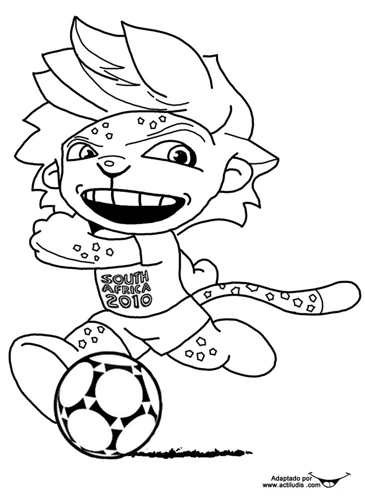 zakumi coloring pages - photo #44