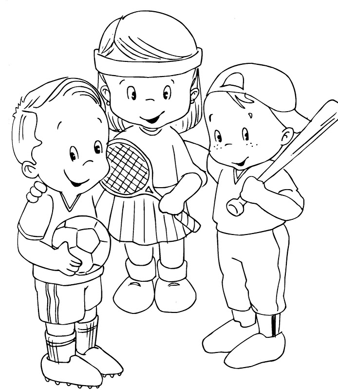 Sports Kids - free coloring pages | Coloring Pages