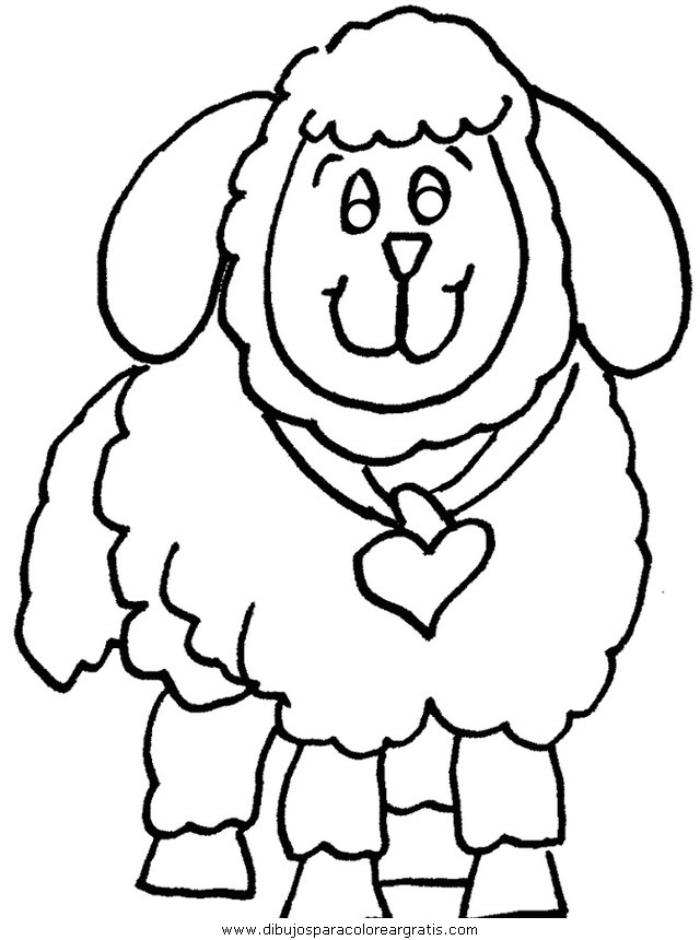 oveja para imprimir Colouring Pages