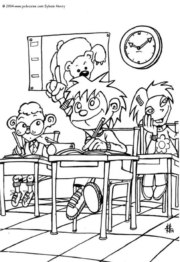 SCHOOL ONLINE coloring pages - Kids painting