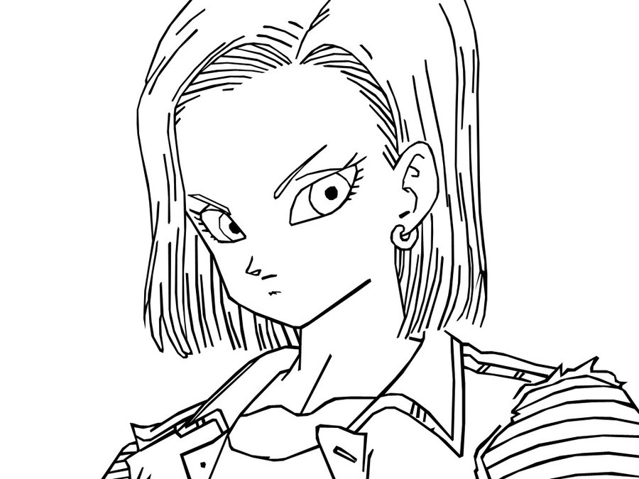 Android 18 lines by Neoluce on deviantART