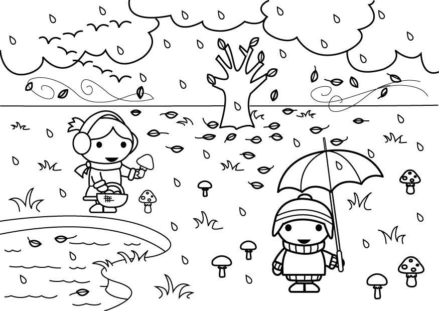 Dibujo De Otoño Para Colorear Az Dibujos Para Colorear