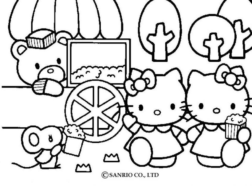 Hello kitty12 - Dibujo de Hello Kitty para imprimir