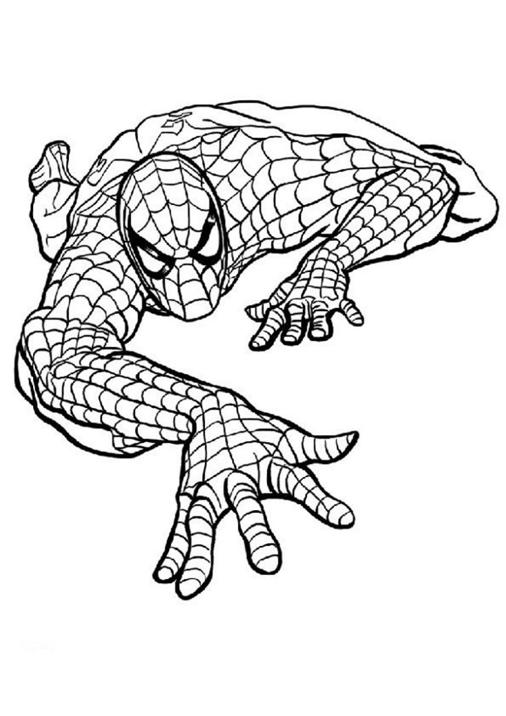 Spiderman17 - Dibujo de Spiderman para imprimir