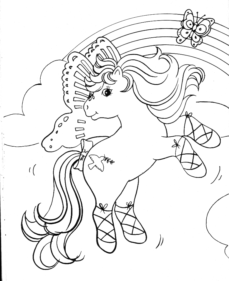 pony arcoiris Colouring Pages