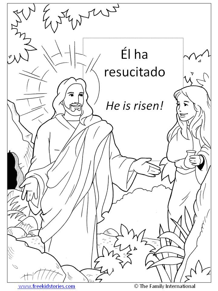 Jesus Resucitado Para Colorear - AZ Dibujos para colorear