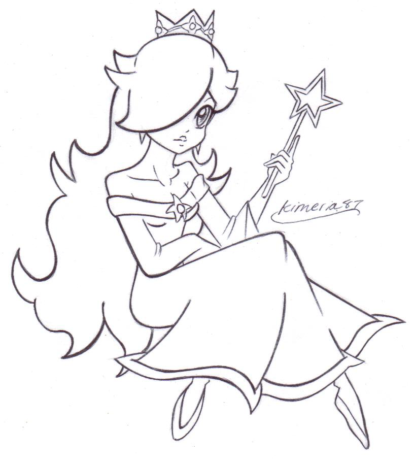 princess peach daisy rosalina coloring pages best