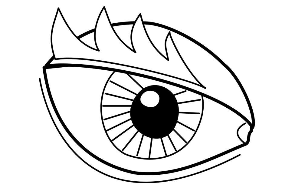 Dibujo Ojos Para Colorear - AZ Dibujos para colorear