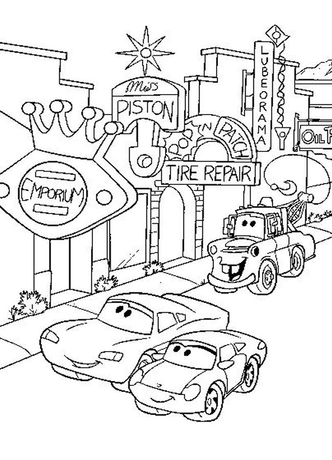 Disney cars coloring pages for kids to Print | Free Coloring Pages