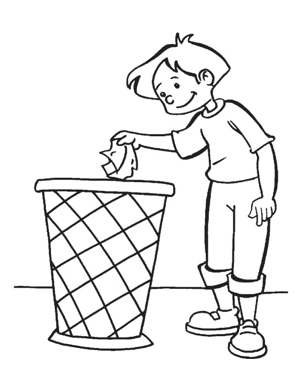 Keep Earth Clean Coloring Page